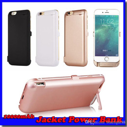"Wholesale External Power Bank Case - For iPhone 6 4.7""10000mAh External Battery Power Bank Back Case Backup Jacket Battery Charger Cases for 6 4.7 inch 4 colors"