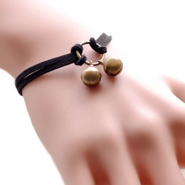 Wholesale Gold Plastic Bells - Simple Creative Style Bell Style Retro Bracelet Cashmere Takeaway Food Handle 9359