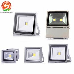 Wholesale Outdoor Led Floodlight Landscape - DC 12V led floodlight waterproof 10W 20W 30W 50W 70W 100W LED projector outdoor spot lighting wall flood light lamp Landscape