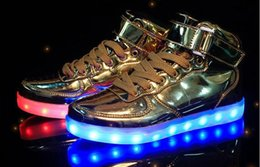 Wholesale Led Flash For Adults - Hot LED Shoes light colorful Flashing Shoes with USB Charge Unisex Fluorescent Couple Shoes Party and Sport CasualShoes for Kid and Adult
