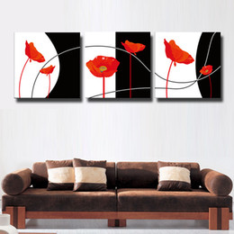 Wholesale Black White Painting Set - 3 Pcs Set impression black and white Canvas Wall Art Pictures Paint on Canvas Painting for Home Office Decorations#119