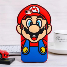Wholesale Mario Cell Phone - 3D Mario Cartoon Cell Phone Case Silicone Mobile Phone Case Wholesale Phone Cover Customize for 7 Plus S8