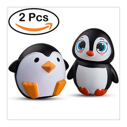 Wholesale Apples Pillows - Kawaii Jumbo 2 Pcs Penguin Squishy Slow Rising Squishies Sweet Scented Vent Charms Kid Toy Hand Pillow Toy Stress Relief Toy Christmas Gift