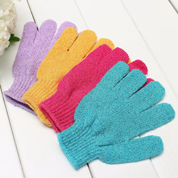 Wholesale Massage Bath Glove - Wholesale-skin bath shower wash cloth Shower Scrubber Back Scrub Exfoliating Body Massage Sponge Bath Gloves Moisturizing Spa Skin Cloth