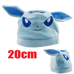 Wholesale Made China Video - High quality 20cm series eevee velvet hat making go poke China Plush hat warm hat,A gift for children