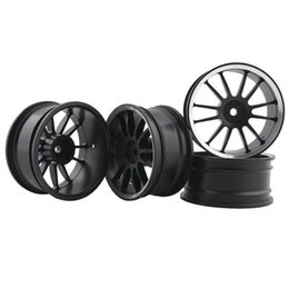 Wholesale rc car rims drift - RC Aluminum Wheel 4pc D:52mm W:26mm Fit HSP HPI 1:10 On-Road Drift Car Rim 123HS