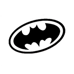 Wholesale Batman Motorcycle - 15*8CM BATMAN Body Reflective Stickers Cute Cartoon Funny Car Sticker Cover Scratches Motorcycle