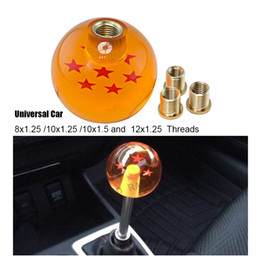 Wholesale Universal Gear Knobs - Universal Auto 7 Star Dragon Ball 54mm Gear Shift Knob M12x1.25 M10x1.25 M10x1.5 M8x1.25