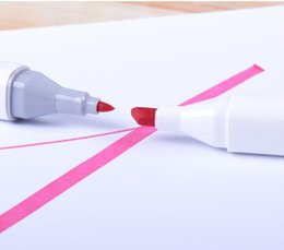 Wholesale Touch Sketch Markers - 40pcs lot Old Touch Five Pen Markers White Holder Pen Markers Drawing Pen Sketch Pens Marker