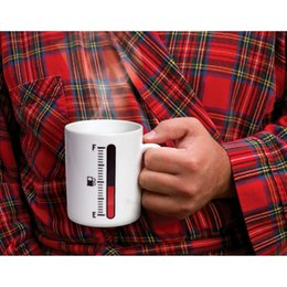 Wholesale Ceramic Color Changing Mug - Tank Up Fuel Gauge Heat Sensitive Cup Tankup Thermometer Mug Ceramic Cup Color Changing Magic Coffee Mug