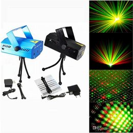 Wholesale Party Lasers - DHL Free Hot Black Mini Projector Red &Green DJ Disco Light Stage Xmas Party Laser Lighting Show, LD-BK