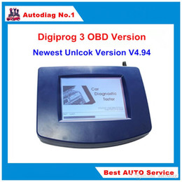 Wholesale Odometer Correction Gm - STOCK Digiprog 3 OBD Version Odometer Correction Tool Digiprog III Main Unit ONLY Digiprog3 Odometer Programmer OBD2 ST01 ST04 Cable