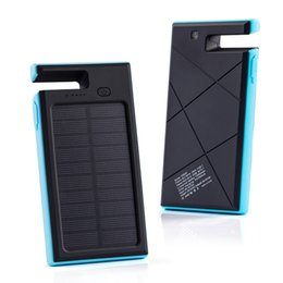 solar supply led Canada - Wholesale- 10000mAh solar powered support mobile power supply multi function dual USB solar energy mobile power supply
