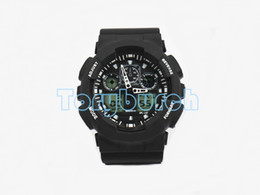 Wholesale 1pcs New top relogio G100 men s sports watches LED chronograph wristwatch military watch digital watch good gift for dropshipping