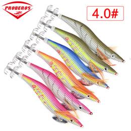 Gancho de calamar 8cm online-6pc Jibioneras atraer a la pesca exportados a Estados Unidos Mercado aparejos de pesca de 6 colores 5.5g-21.56g, 8 cm - 15 cm, 2,0 # - # 4.0 Hook
