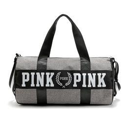 Wholesale Beach Tennis - Pink Letter Storage Bag Men Women Travel Duffel Bag Waterproof Casual Beach Exercise Luggage Bags Little Bags Inside DHL Fedex Shipping