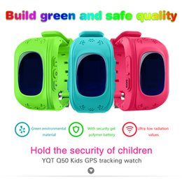 Wholesale Kid Gps Tracking Watch - Kids GPS Tracking Watch Q50 New Smartwatch Support SIM Voice Chatting Electronic Fence SOS for Help pedometer History Routing