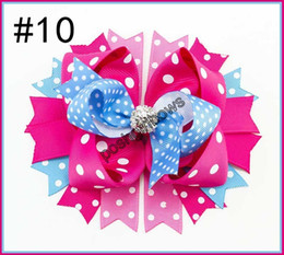 "Wholesale Over Top Hair Bows - free shipping 50 pcs 4.5""-5""GLAM over the top layered BRIGHT and BEAUTIFUL hair bow clip"