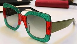 Wholesale Ladies New Design - New fashion lady sunglasses 0102S large square frame hot lady popular design crystal sequins color legs top quality uv protection eyewear