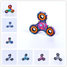 Wholesale Spin Toy Magic - Top Fidget Spinner Painting Hand Spinner Colorful Magic Finger Gyro Fingertips Gyro Magic Triangle Spin Fidget Gyro Toys