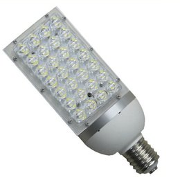 Wholesale House Station - DHL Free Shipping LED corn lights E27 E40 base 28W street light canopy light HID CFL replacement aluminum housing AC85-265V
