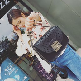 Wholesale Korean Bags For Sale - Imitation Leather Handbags for Lady Fashion Hollow out Cross-body Bags Hot Sale Korean Women Bag with Lock