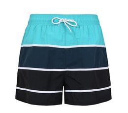 Wholesale Mens American Swimwear - Hot Sale 2017 American Style Summer Hit color striped mens swimming shorts quick-drying Beach shorts Mens swimwear Summer mens Beach pants