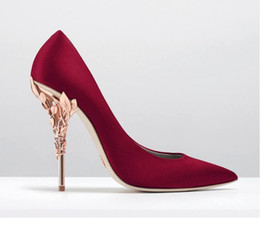 Wholesale Fine Silk Flowers - Hot Selling New point high heels shoes pointed high-heeled shoes fine silks and satins British wind lighter pair sexy wedding shoes