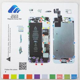 Wholesale Iphone 4s Screw Mat - 8psc set Screw Magnetic Chart CyberDoc lcd screen repair tool mat Magneti Screw Mat Technician Repair Pad Guide for iphone 4+4s+5+5s+5c+6+6S