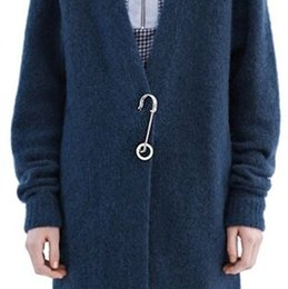 Wholesale Sweater Shawls For Women - Wholesale- CMAJOR NEW fashion Cardigan big alloy pin Shawl big alloy pin Fashion sweater buckle for women gifts jewelry