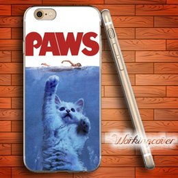 Wholesale Luxury Iphone 5c Cases - Fundas Luxury Paws Cat Soft Clear TPU Case for iPhone 6 6S 7 Plus 5S SE 5 5C 4S 4 Case Silicone Cover.
