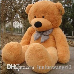 Wholesale Teddy Bears Inches - 2017 New Arriving Giant 180CM 70''inch TEDDY BEAR PLUSH HUGE SOFT TOY 1.8m Plush Toys Valentine's Day gift  Birthday gifts br