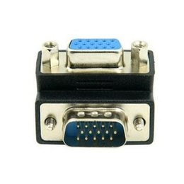 Wholesale Projectors For Computers - 270 Degree Right Angled VGA SVGA 15pin Male To Female extension Adapter for computer projector & monitor