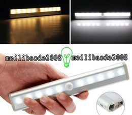 Wholesale Bathroom Sensors Lights - NEW LED Human Motion Activated PIR Light Sensor Bathroom Toilet Lamp LED Night Light motion activated light motion AAA Battery Operated LED