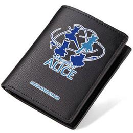 Wholesale American Alice - Alice Margatroid wallet Touhou Project purse Anime unisex short long cash note case Money notecase Leather burse bag Card holders