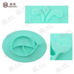 Wholesale Wholesale Bowls Plates - Patented FDA Approval Silicone Suction Placemat for Kids Toddlers, Babies Feeding Tray with Built in Plate and Bowl BPA Free