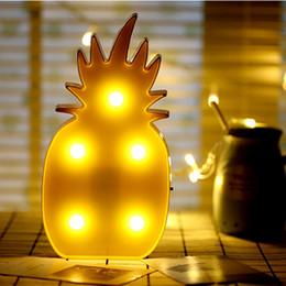 Wholesale Led Lights For Christmas Lanterns - New Creative Light Led Night Lamp Flamingo Unicorn Cactus Pineapple Lantern Wedding Party Decoration Christmas Decorations For Home