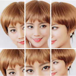 Wholesale Wholesale Wigs For Women - Human Hair Short Bob Wigs For Black Women Color Blond Brazilian Remy Hair Lace Front Human Hair Wigs