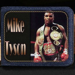 Wholesale Best Photo Box - Mike Tyson wallet Boxing king purse Best player short cash note case Money notecase Leather burse bag Card holders