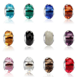 Wholesale Crimps For Jewelry - DHL Beads for Jewelry Making Fits Pandora Bracelets Silver Crystal Beads Charms For Diy European Necklace Jewelry Accessories