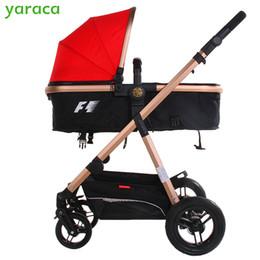 Wholesale Luxury Prams - Wholesale- Luxury Baby Stroller High Landscape Baby Carriage Newborn Infant Pram poussette paysage haute kinderwagen