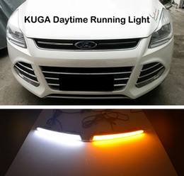 Wholesale Relay Light - Turn Signal Light and turn off Relay 12V GUIDE LED CAR DRL Daytime Running light accessories for FORD Kuga Escape 2013 2014 2015
