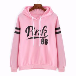 Wholesale Pink Cashmere Sweater Women - 2016 The new female Sports sweater Letters printed hooded sweater woman plus long-sleeved cashmere pink sports sweater