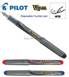 Wholesale Pilot Pens - Wholesale- 3pcs lot Disposable Fountain pen M Nib JAPAN PILOT SVP-4M office school stationery Whoelsale Free Shipping