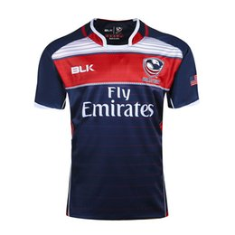 Wholesale usa rugby jerseys xxl - Free shipping!NRL National Rugby League USA United States Rugby jersey navy blue mens shirts S-3XL