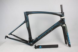 Wholesale Carbon Fibres Bicycle Frames - White Sky Blue Black Decals 2017 Full Carbon Racing Road Frame UD Glossy Matt PF30 BB30 Bicycle Frameset