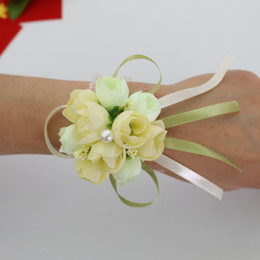 2019 borse di fiori artificiali bomboniere matrimonio decorazioni floreali fiori artificiali polso corsage damigella d'onore polso fiore sorelle fiore