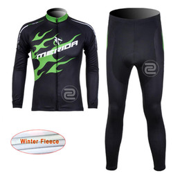 Wholesale Merida Cycling Jersey Winter Thermal - Pro Merida Winter thermal fleece cycling jersey set long sleeve ropa ciclismo invierno hombremtb bike cycling clothing D1129