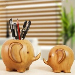 Wholesale Desk Resin Craft - Cute imitation elephant elephant pen holder office desk simple minimal ornaments home decoration creative fashion crafts HWD29
