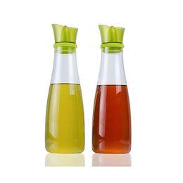 Wholesale Cruet Sets - Oil and Vinegar Dispenser Set with Slant Silicone Pourer Creative Leakproof Borosilicate Glass Olive Oil Dispensers Cruets 17oz